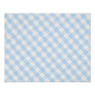 Modelo diagonal azul claro de la guinga poster