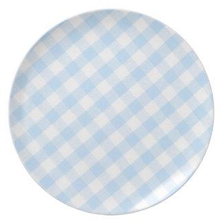 Modelo diagonal azul claro de la guinga plato