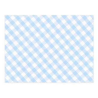 Modelo diagonal azul claro de la guinga postal