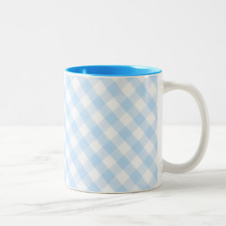 Modelo diagonal azul claro de la guinga taza