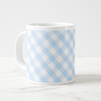 Modelo diagonal azul claro de la guinga taza extra grande