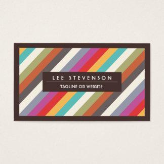 Modelo diagonal colorido de las rayas de la tarjeta de negocios