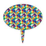 Modelo diagonal colorido intrépido bonito del edre figuras de tarta