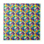 Modelo diagonal colorido intrépido bonito del edre azulejos ceramicos