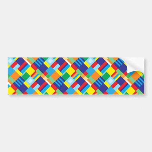 Modelo diagonal colorido intrépido bonito del edre pegatina para auto