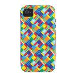 Modelo diagonal colorido intrépido bonito del edre iPhone 4 funda