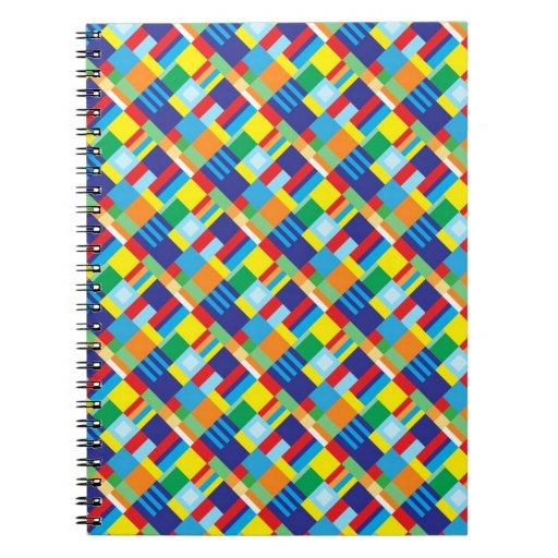 Modelo diagonal colorido intrépido bonito del edre cuaderno