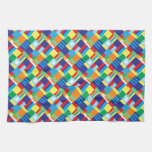 Modelo diagonal colorido intrépido bonito del edre toallas