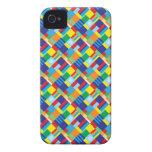 Modelo diagonal colorido intrépido bonito del iPhone 4 fundas