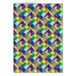Modelo diagonal colorido intrépido bonito del tarjeta de felicitación