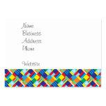Modelo diagonal colorido intrépido bonito del tarjetas de visita grandes
