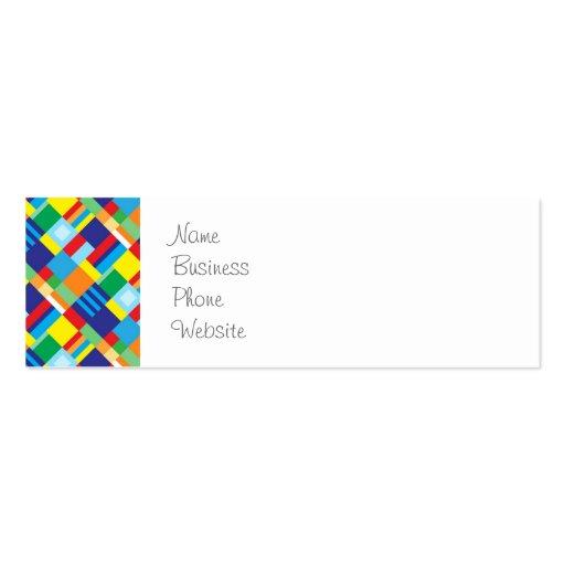 Modelo diagonal colorido intrépido bonito del tarjetas de visita mini
