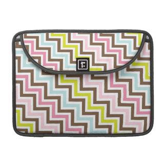 Modelo diagonal de Chevron del zigzag de los color Funda Macbook Pro