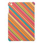 modelo diagonal de las rayas del caramelo de la pr iPad mini cárcasa