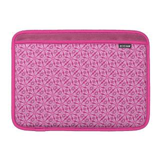 Modelo diagonal del fractal rosado 11 pulgadas fundas macbook air