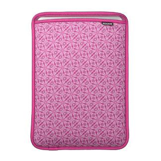 Modelo diagonal del fractal rosado 13 pulgadas funda macbook air