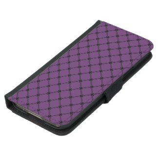Modelo diagonal negro y púrpura gótico