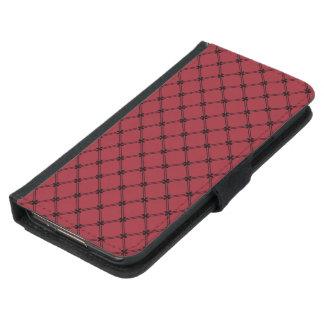 Modelo diagonal negro y rojo gótico