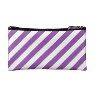 Modelo diagonal púrpura y blanco de las rayas
