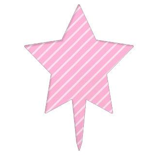 Modelo diagonal rosado de las rayas decoración de tarta
