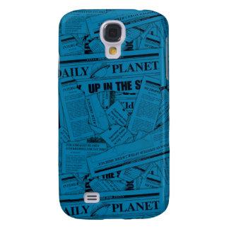 Modelo diario del planeta - azul funda para galaxy s4