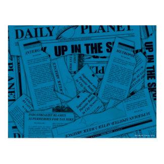 Modelo diario del planeta - azul tarjeta postal