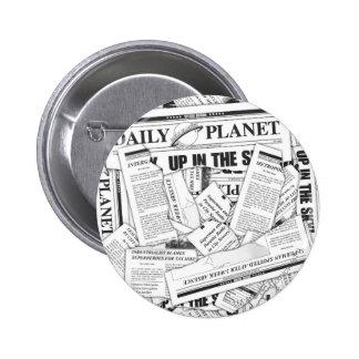 Modelo diario del planeta - blanco pins
