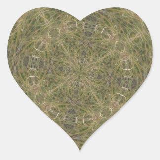 Modelo diseñado de intriga pegatina en forma de corazón
