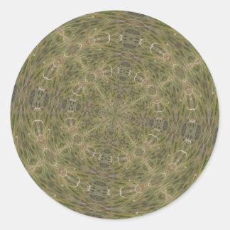 Modelo diseñado de intriga pegatina redonda