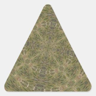 Modelo diseñado de intriga pegatina triangular
