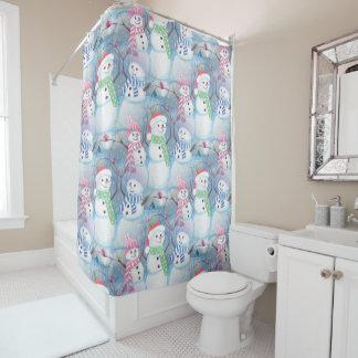 Modelo divertido colorido lindo del muñeco de cortina de baño