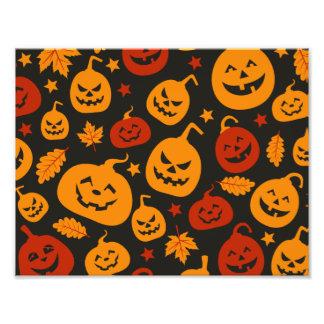 Modelo divertido de las calabazas de Halloween de Cojinete