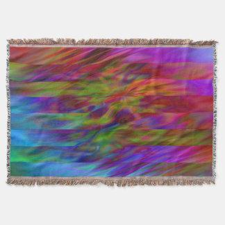 Modelo divertido de las rayas - ondas coloreadas + manta