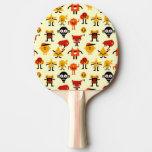 Modelo divertido de los monstruos pala de ping pong