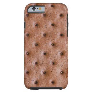 Modelo divertido del bocadillo del helado funda para iPhone 6 tough