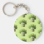 Modelo divertido verde del vegetariano del bróculi llavero personalizado