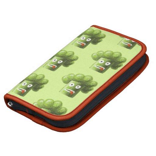 Modelo divertido verde del vegetariano del bróculi planificadores
