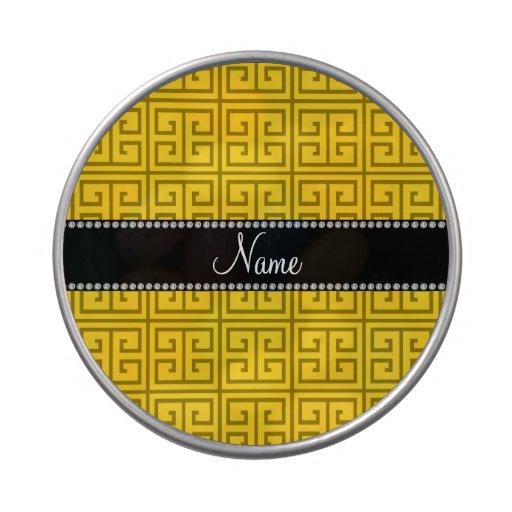 Modelo dominante griego amarillo conocido jarrones de caramelos