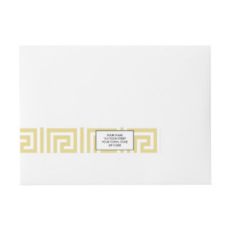 Modelo dominante griego amarillo y blanco de las pegatinas postales