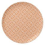Modelo dominante griego anaranjado de la mandarina platos para fiestas
