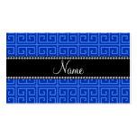 Modelo dominante griego azul conocido personalizad plantilla de tarjeta personal