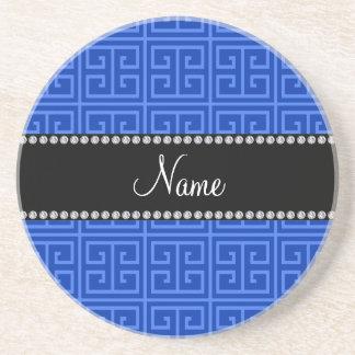 Modelo dominante griego azul conocido posavasos manualidades