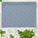 Modelo dominante griego azul marino toalla de cocina
