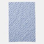 Modelo dominante griego azul toalla de mano