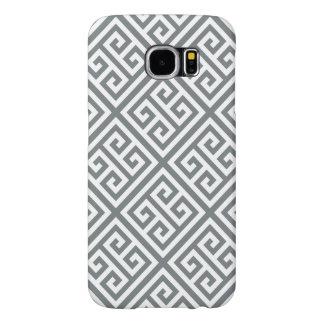 Modelo dominante griego blanco #1 del MED Diag T Funda Samsung Galaxy S6