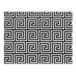Modelo dominante griego gráfico blanco y negro postales