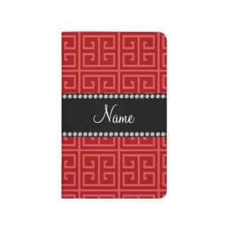 Modelo dominante griego rojo conocido personalizad cuadernos grapados