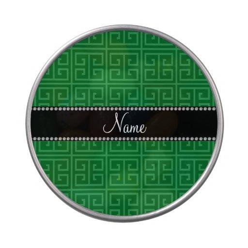 Modelo dominante griego verde conocido personaliza frascos de dulces