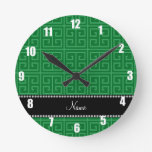 Modelo dominante griego verde conocido personaliza reloj de pared