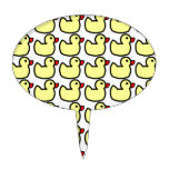 Modelo Ducky de goma amarillo brillante lindo Figura Para Tarta